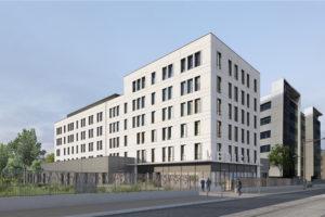 Un méga projet d'entreprise de santé pluridisciplinaire en construction à Lyon